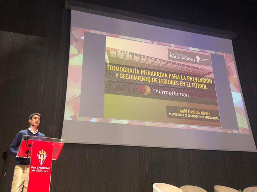 ThermoHuman talks at Sporting-Gijón's Mareo Education & Research Lab presentation