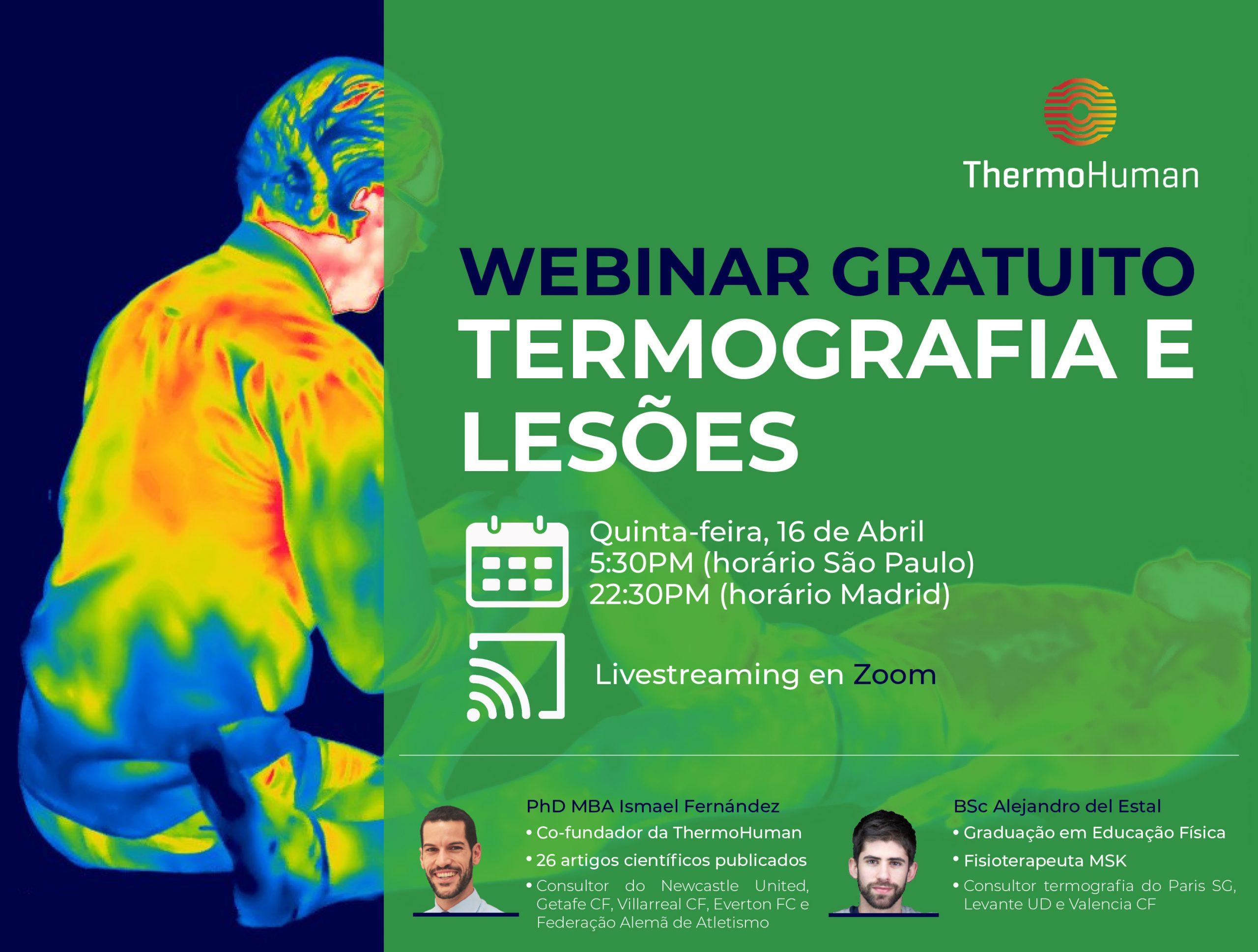 Webinar gratuito en portugués «Termografia e lesões»