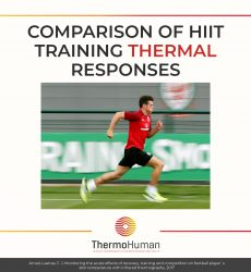 Comparison of HIIT training thermal responses