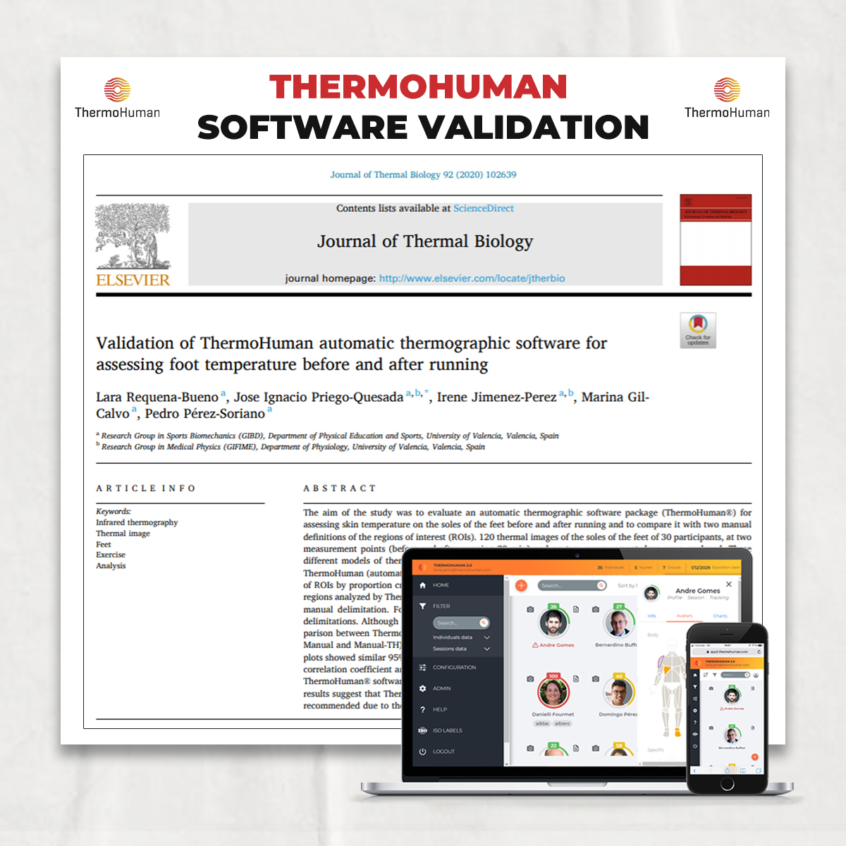 Scientific article about ThermoHuman software validation