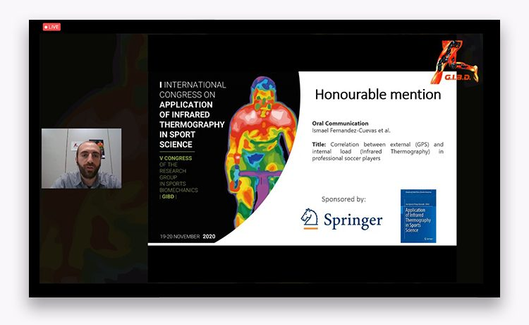 Honorable mention for ThermoHuman during the I International Congress on Application of Infrared Thermography in Sport Science.