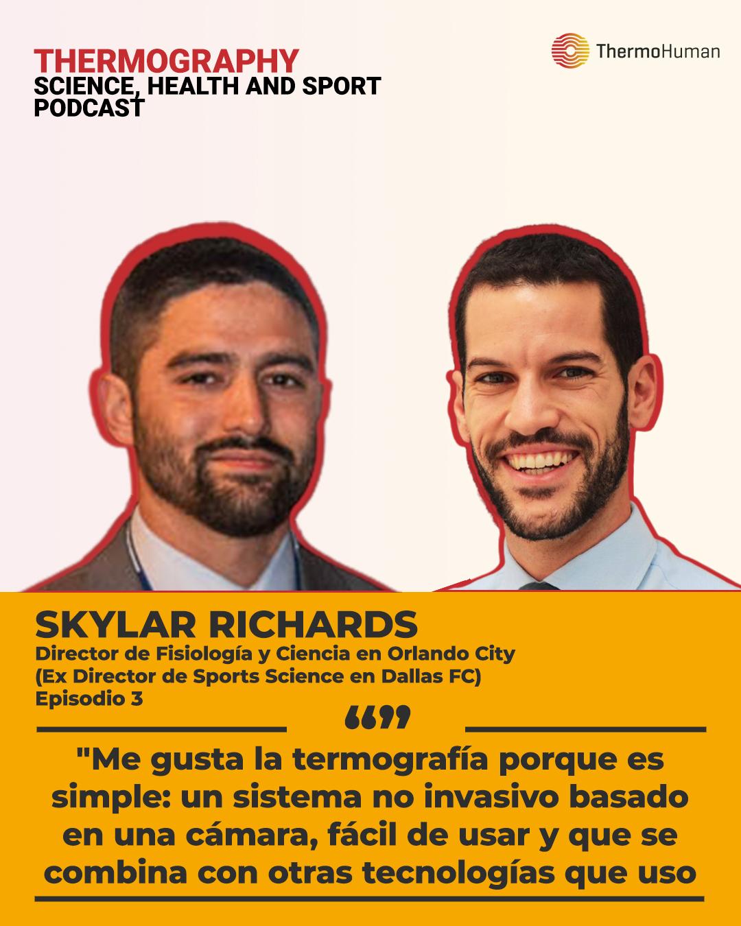 Podcast ThermoHuman nº3: Skylar Richards (Director de fisiología y ciencia de los Orlando City)