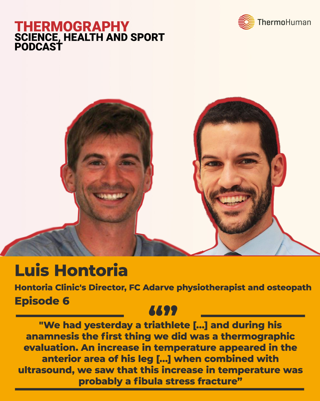 ThermoHuman Podcast 6: Luis Hontoria (Physiotherapist and Osteopath, Director of Clínica Hontoria and UD Adarve physiotherapy area)